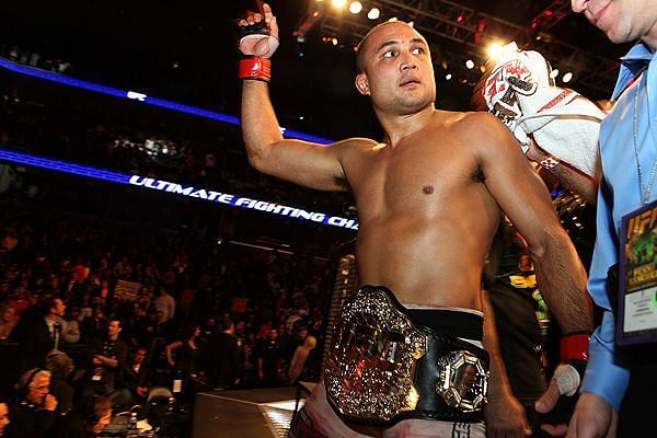 BJ Penn won UFC gold at Lightweight and Welterweight, but never at the same time.