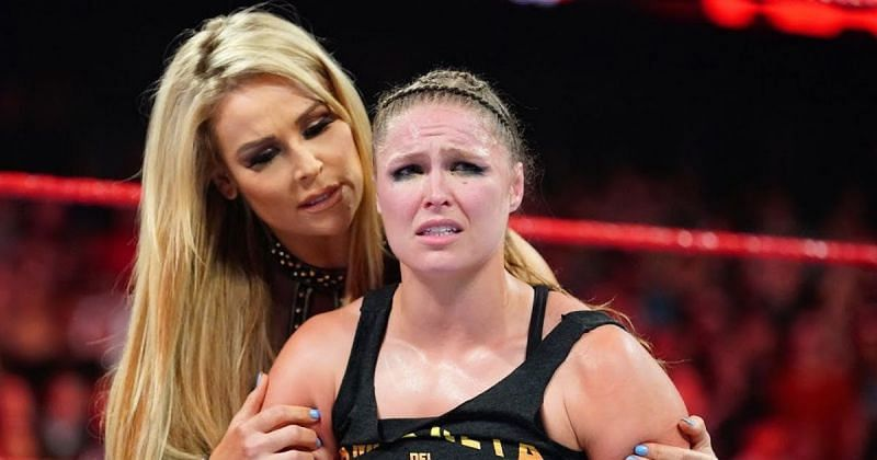 Natalya and Ronda Rousey on RAW.