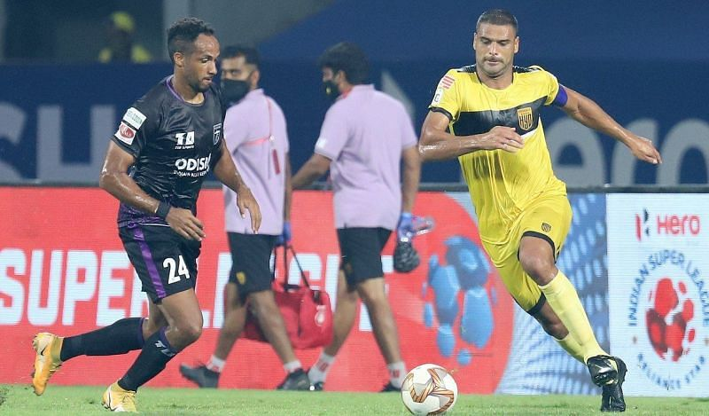 Aridane Santana is the leading goal-scorer for Hyderabad FC. (Image: ISL)