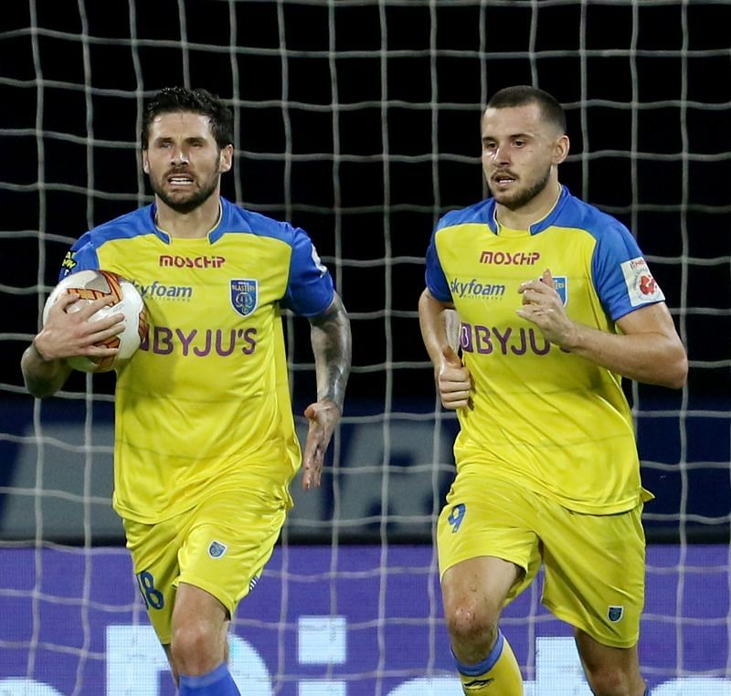 Gary Hooper and Jordan Murray are combining well to score for Kerala Blasters (Image Courtesy: ISL Media)
