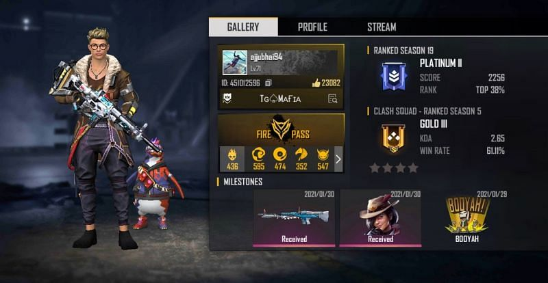 Ajjubhai S Total Gaming Free Fire Id Stats Country And More