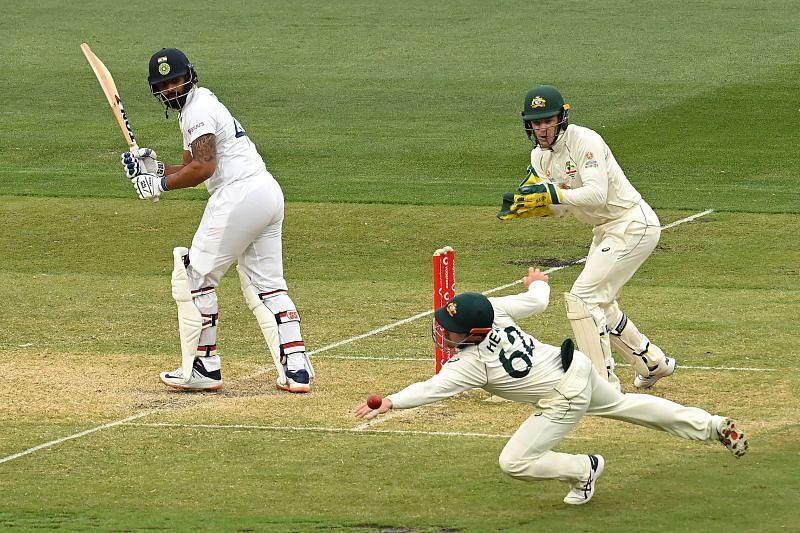 Hanuma Vihari in action during the Sydney Test.