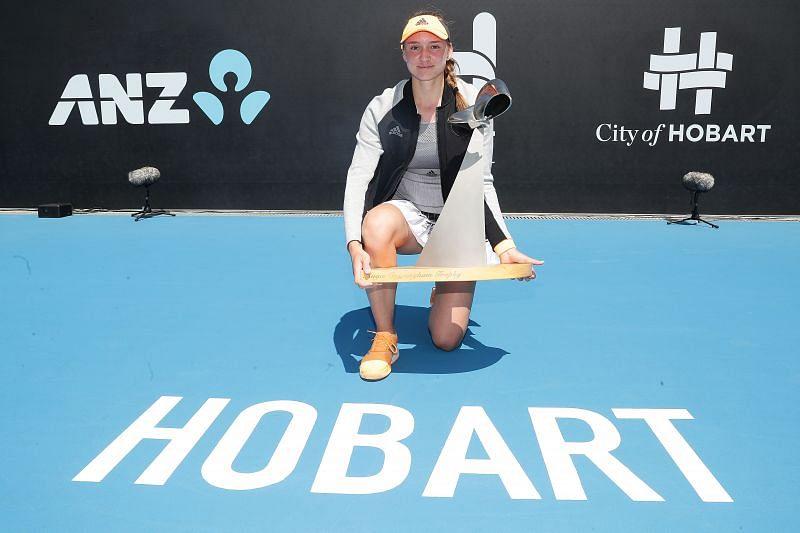 Elena Rybakina won her second career title in Hobart last January