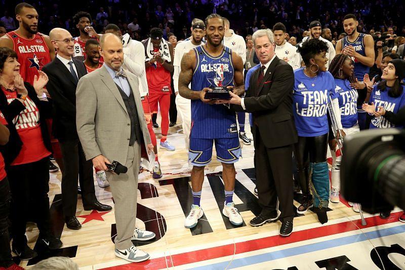 Kawhi Leonard won the 2020 NBA All-Star MVP award