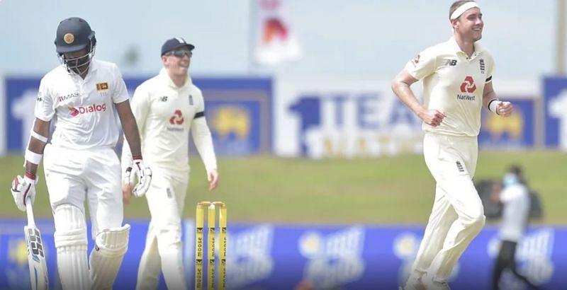 Stuart Broad picked up three wickets for England (Image: Sri Lanka Cricket)