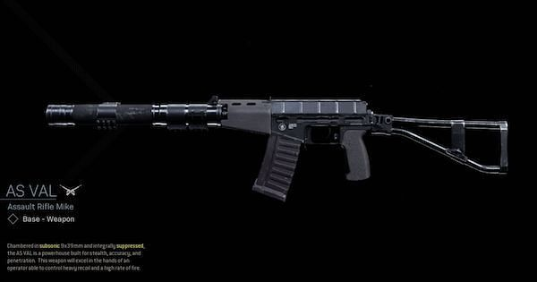 Image Via Activision: The AS VAL is a great option for an Assault Rifle