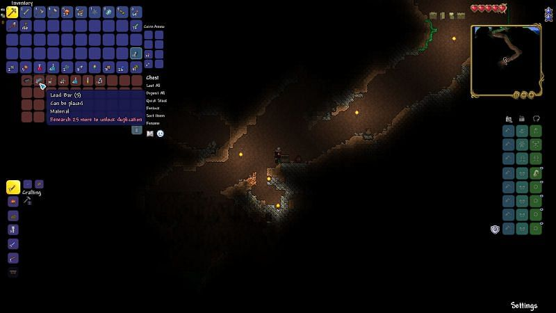 You may also find chests around the dirt layer caverns of underground