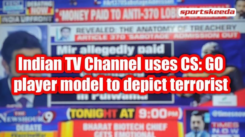 Indian TV Channel uses CS: GO player model to depict Terrorist during Prime Time News