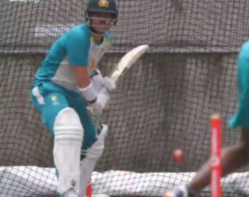 David Warner in the nets at MCG. Pic: cricket.com.au/ Twitter