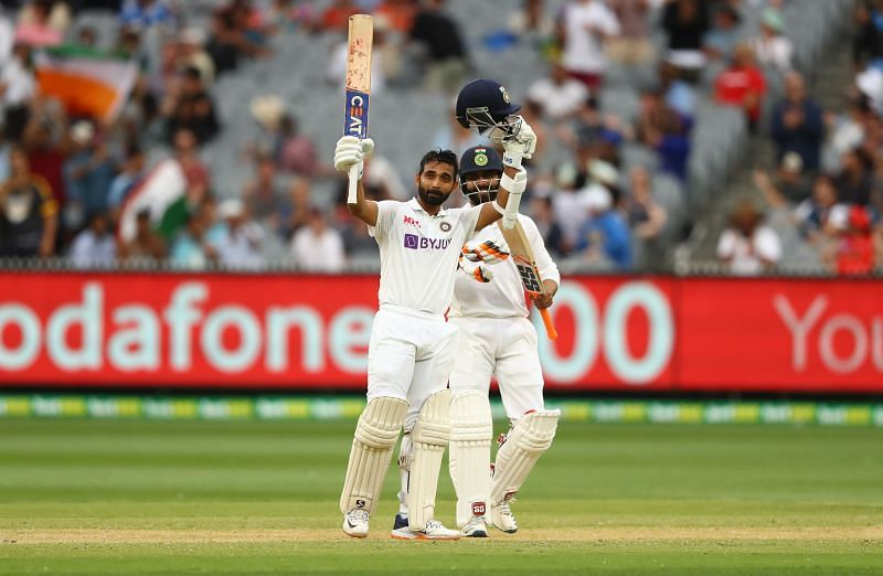 Ajinkya Rahane, after reaching his century in the Boxing Day Test