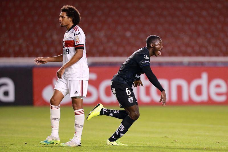 Moises Caicedo celebrates a goal