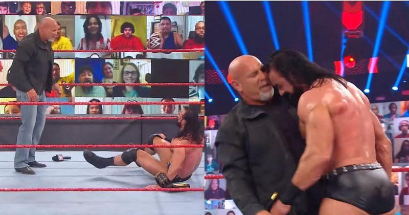 Goldberg and Drew McIntyre on RAW.