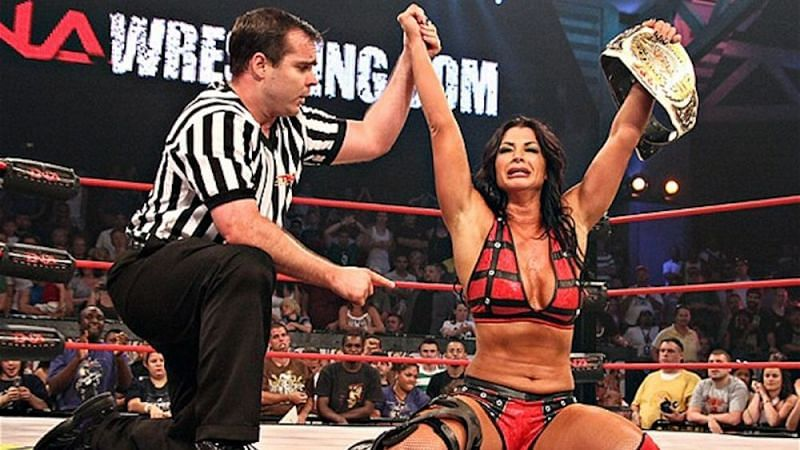 Victoria, after winning the TNA Knockout