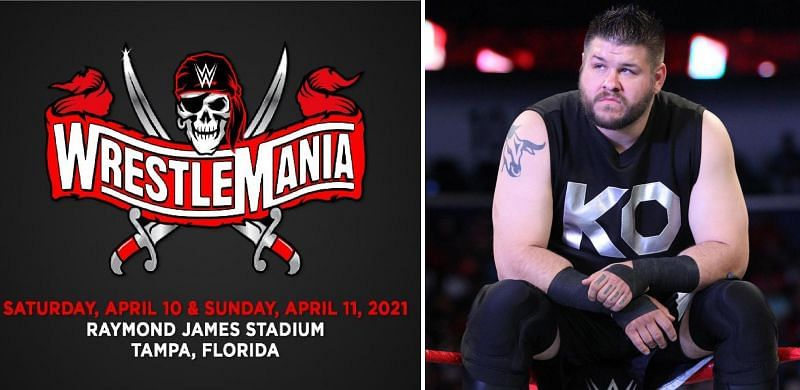 Kevin Owens seems happy after WrestleMania moves to Raymond James Stadium