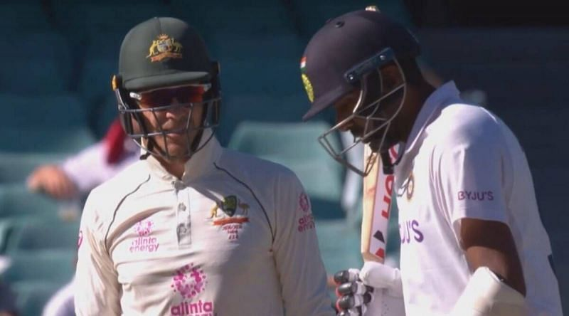 Tim Paine sledges Ravichandran Ashwin on Day 5 of the SCG Test