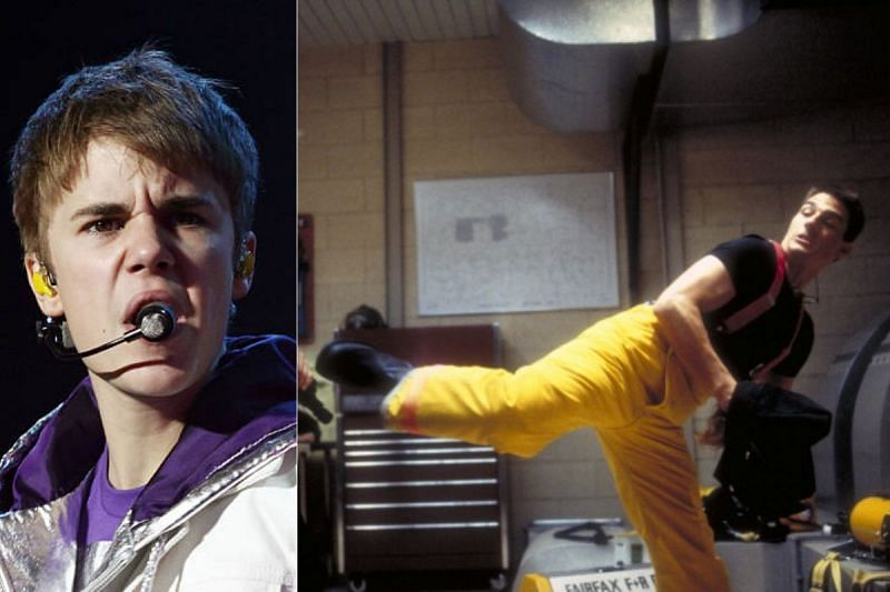 Justin Bieber (L) and Tom Cruise (R)