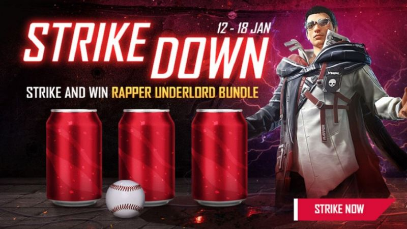 Strike Down event in Free Fire