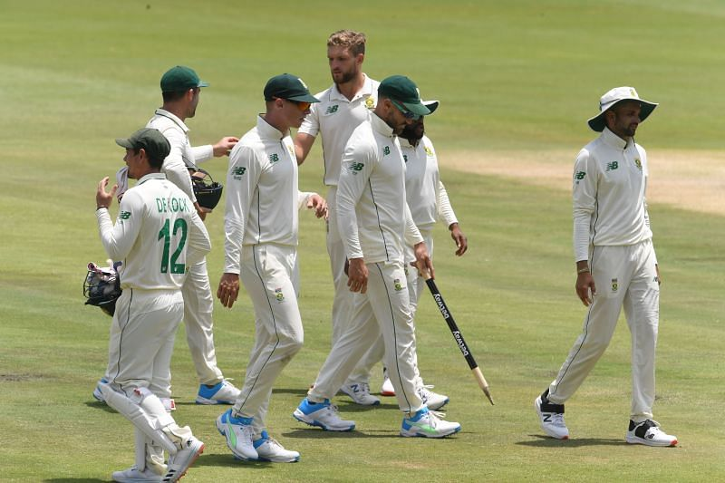 South Africa won the first Test by an innings and 45 runs
