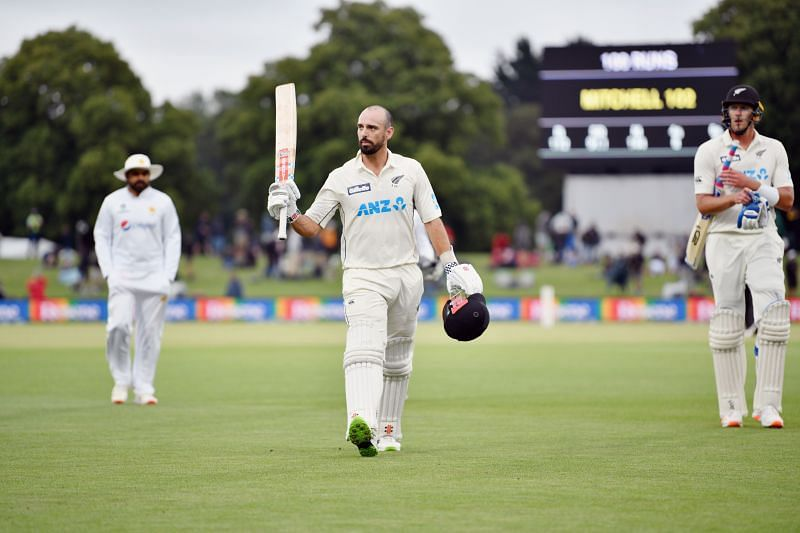 Daryl Mitchell reached his maiden ton in just his fourth Test