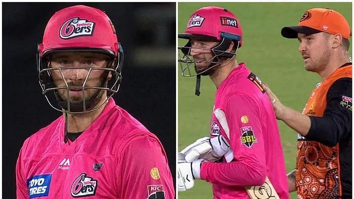 James Vince was not pleased after Andrew Tye bowled a wide ball. (Pic Courtesy: BBL, Twitter)