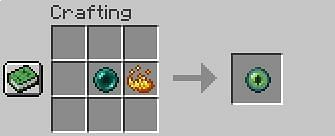 Inside the crafting table menu, place your ender pearl and blaze powder
