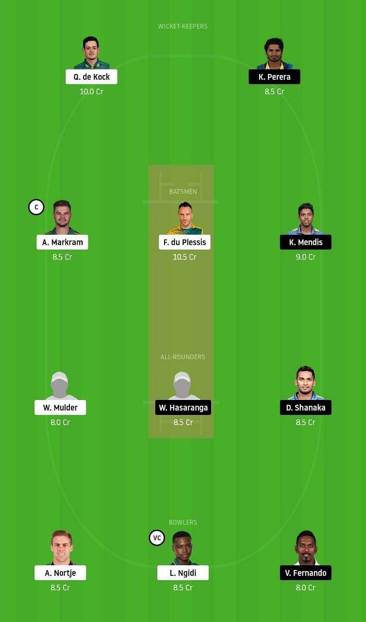 South Africa vs Sri Lanka Second Test Dream11 Tips