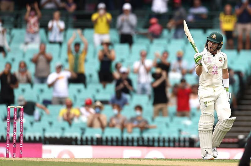 Will Pucovski reached his half-century on the opening day of the Sydney Test