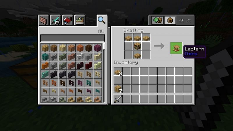 Crafting Lectern in Minecraft