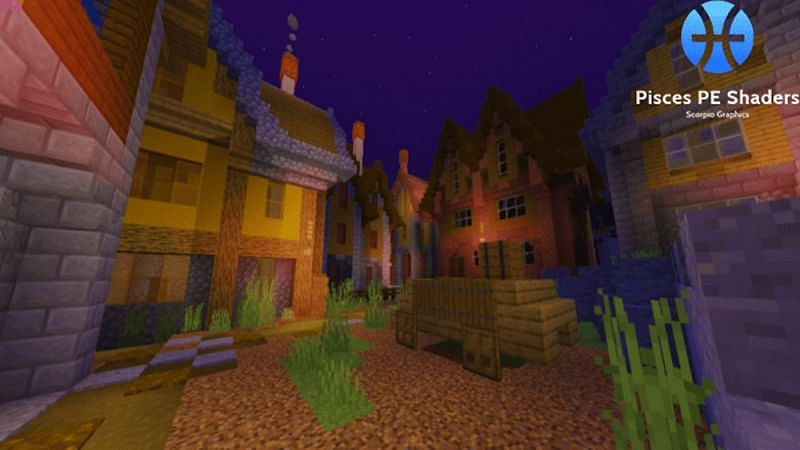 Pisces BE Shaders (Image via Minecraft)