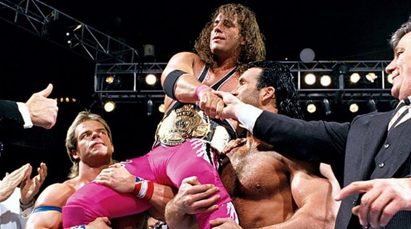 Bret Hart and Eric Bischoff never seem to be on the same page (Pic Source: WWE)