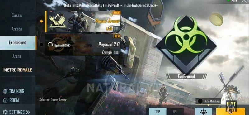 Power Armor mode in EvoGround (Image via NaturalYT/YouTube)