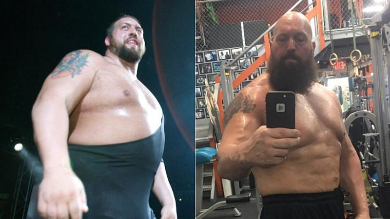 The Big Show in the early 2000s (left); The Big Show in 2017 (right)