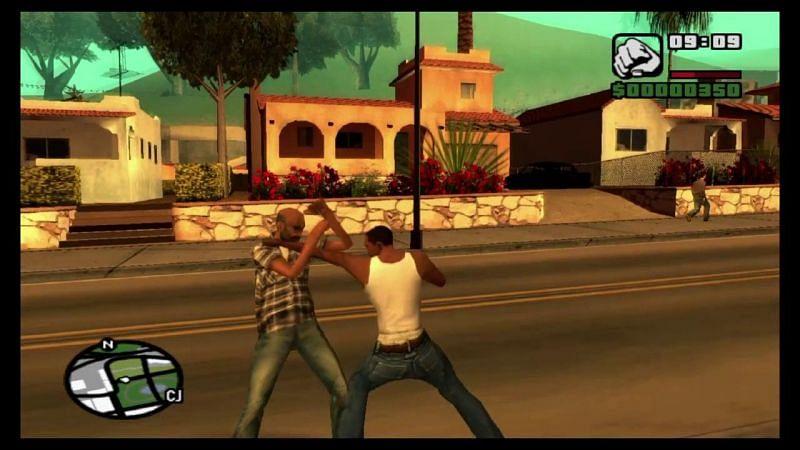 GTA San Andreas had a great fighting mechanism (Image via DarkBlade27 (YouTube))