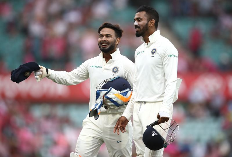 Rishabh Pant (L) has seen his life come full circle since his ton at the SCG in 2019