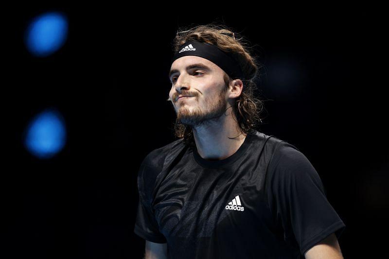 Stefanos Tsitsipas at the 2020 ATP Finals