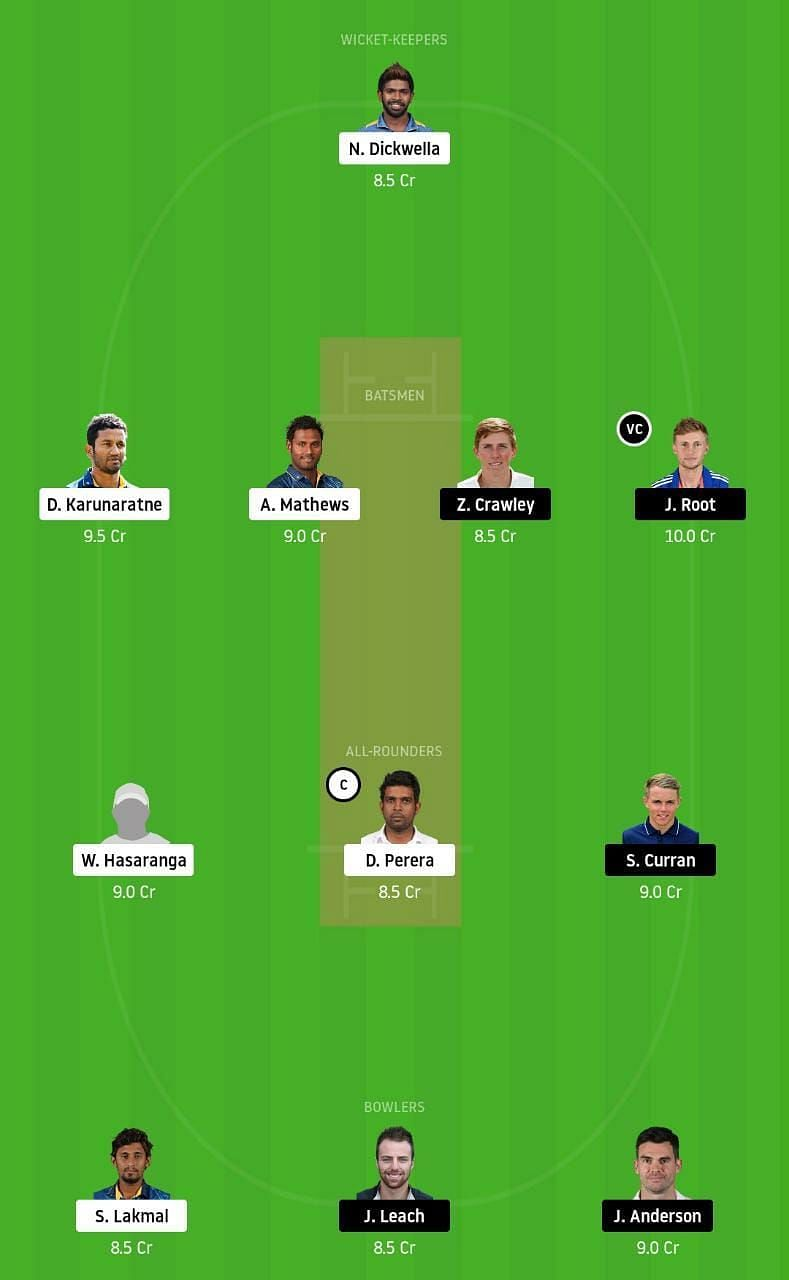 SL vs ENG 1st Test Dream11 Tips