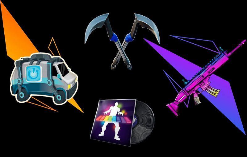 Reboot-A-Friend program rewards in Fortnite (Image via Epic Games)
