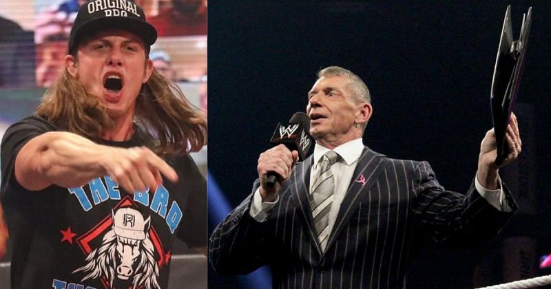 Matt Riddle and Vince McMahon.