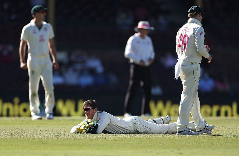 Australian captain Tim Paine dropped as many as three catches on the final day of the Sydney Test.