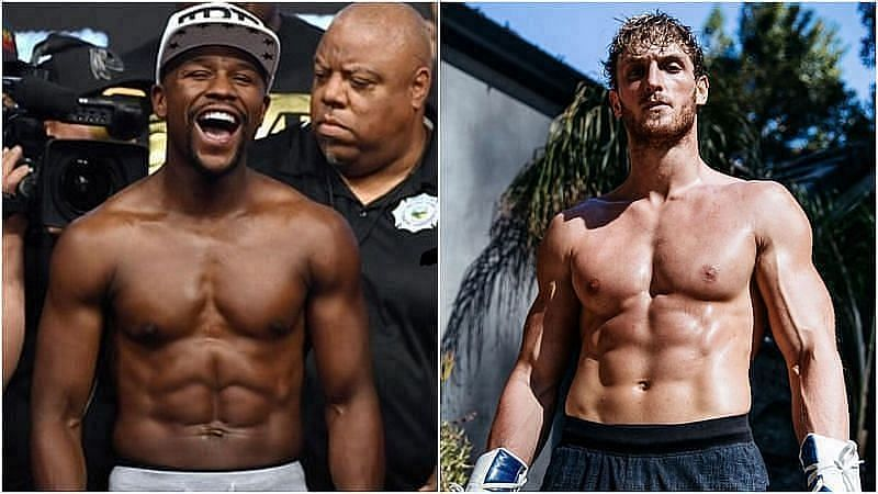 Logan Paul and Floyd Mayweather