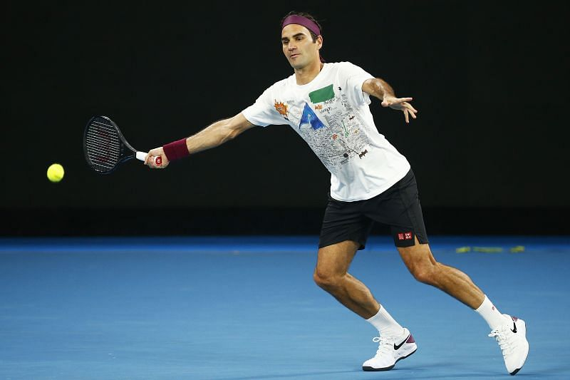 Roger Federer at the 2020 Australian Open
