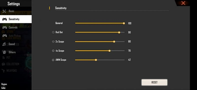 Best sensitivity settings for 2 GB RAM phones