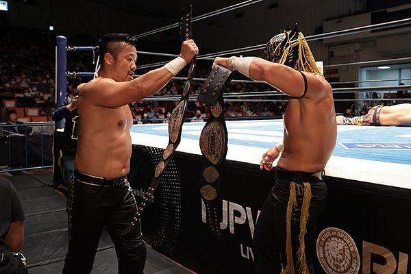Suzuki Gun retained the Jr. Tag Titles at WK 15