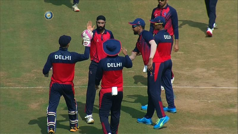 Delhi followed up their 76-run win over Mumbai with a six-wicket victory against Andhra Pradesh.
