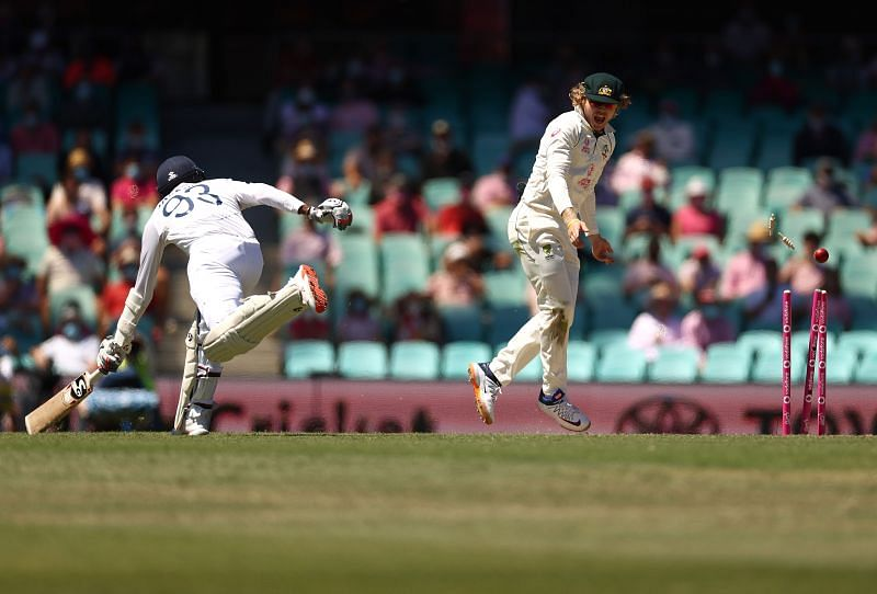 Australia effected three run-outs in India