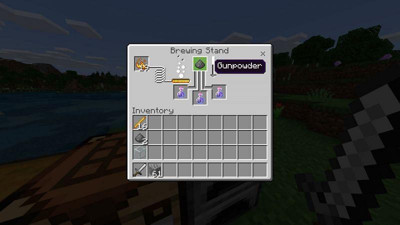 Crafting splash potion