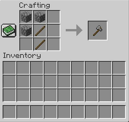 Crafting stoneaxe