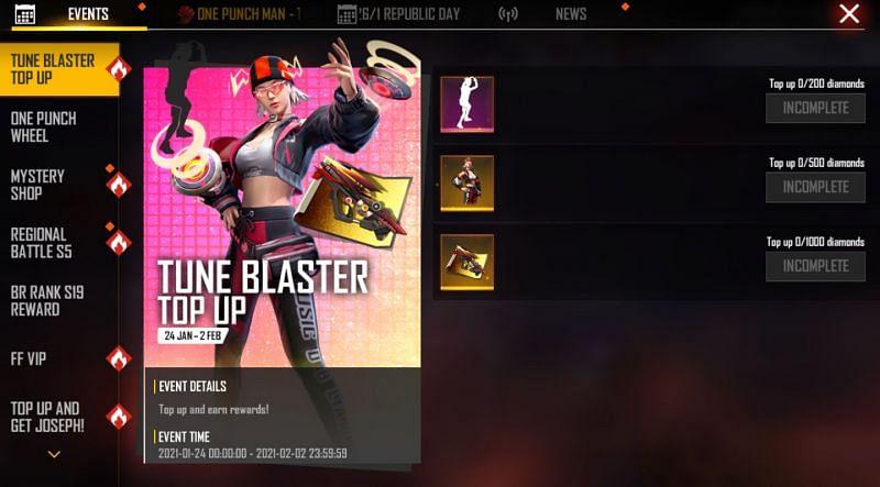 Tune Blaster Top Up