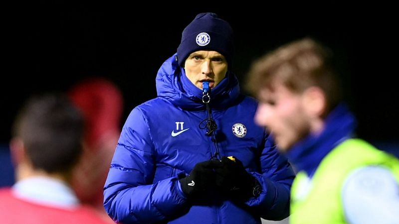 Thomas Tuchel has arrived at Chelsea for his first training session.