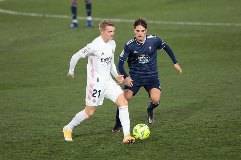 Real Madrid star Martin Odegaard in action